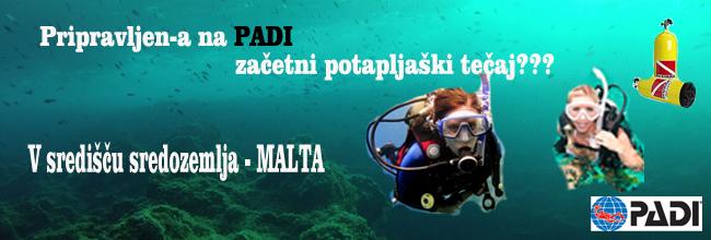Malta - začetni potapljaški tečaj